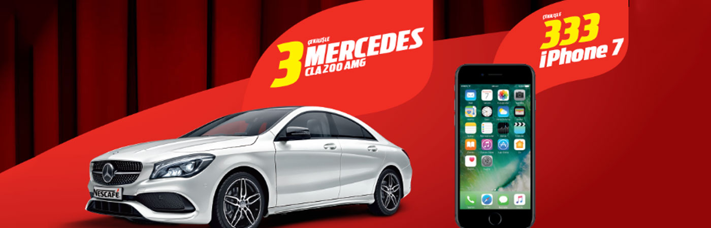 Nescafe 3 Mercedes 333 iPhone Çekilişi