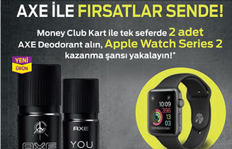 Migros Axe Apple Watch Çekilişi