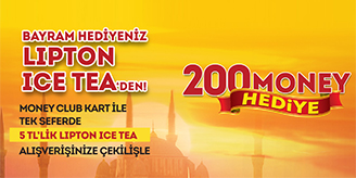 Migros - Lipton Ice Tea 200 Money Çekilişi