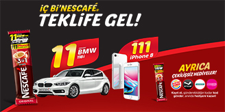Nescafe 11 BMW 111 iPhone 8 Çekilişi