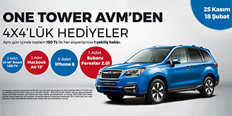 One Tower AVM Subaru Forester Çekilişi