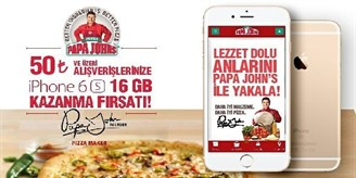 Papa Johns iPhone Çekilişi